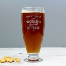 Personalised 'The World's Greatest' Craft Ale Beer Glass P0307G77